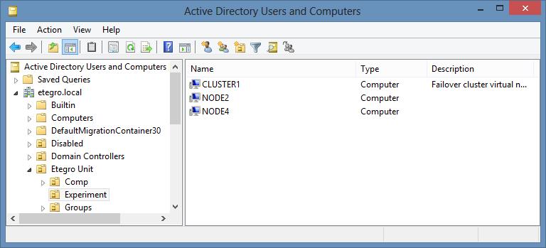 Контейнер Active Directory