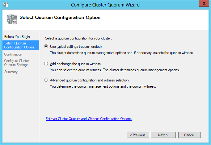 Quorum Configuration Option