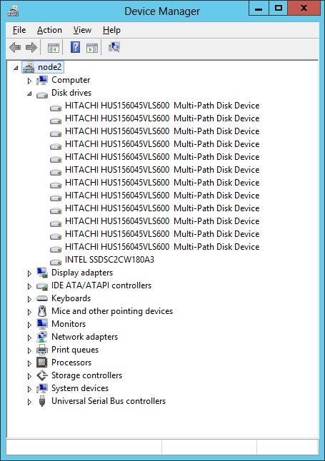 Диспетчер устройств с настроенным MPIO