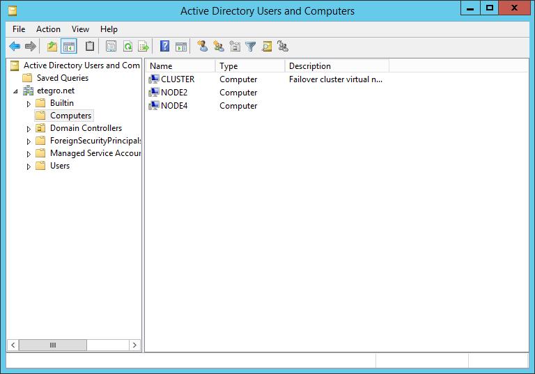 Объекты Active Directory
