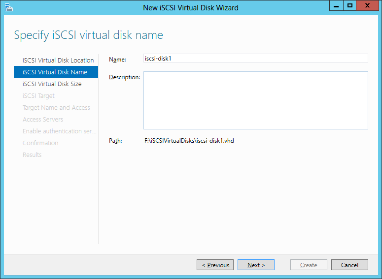 iSCSI Virtual Disk Name