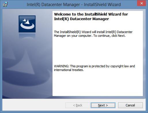 Начало установки Intel(R) Datacenter Manager
