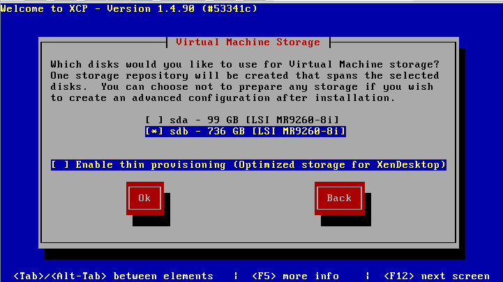Выбор диска для репозитория виртуальных машин